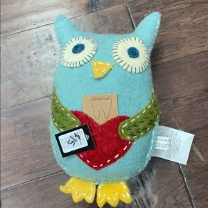 Felted Wool Owl Tooth Fairy Pillow